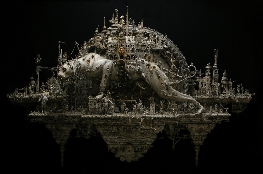 Kris-Kuksi-Sculptures-Plague-parade-opus-by-artist-sculptor-Creative-Mapping