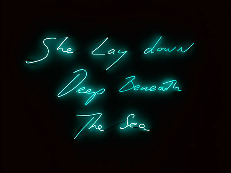 Tracey-Emin-She-lay-down-deep-beneath-the-sea-Creative-Mapping-Sweet-Erotic-Decadence-Review