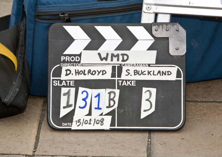 Interview-with-Creative-Mapping-Christine-Hartland-set-clapper-board