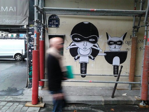 Fred-Le-Chevalier-street-art-Paris-cite-de-thouars-catch-up-with-Creative-Mapping