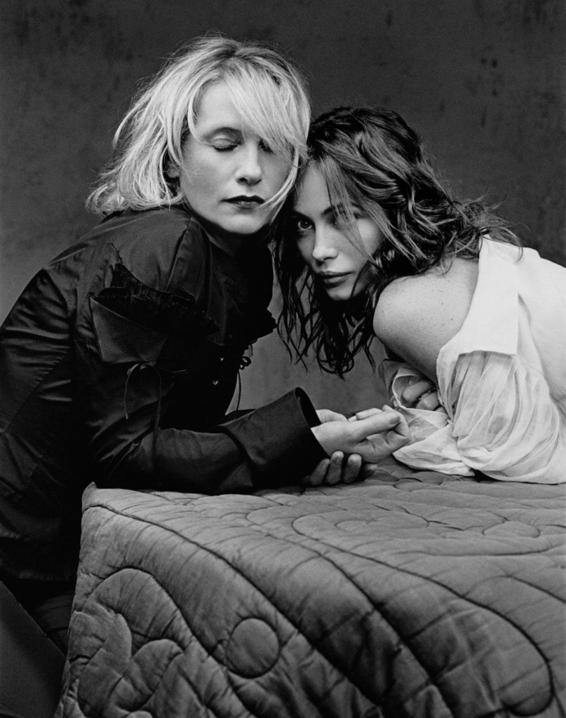 Isabelle-Huppert-and-Emmanuelle-Beart-photography-copyright-Kate-Barry-a-Creative-mapping-Tribute
