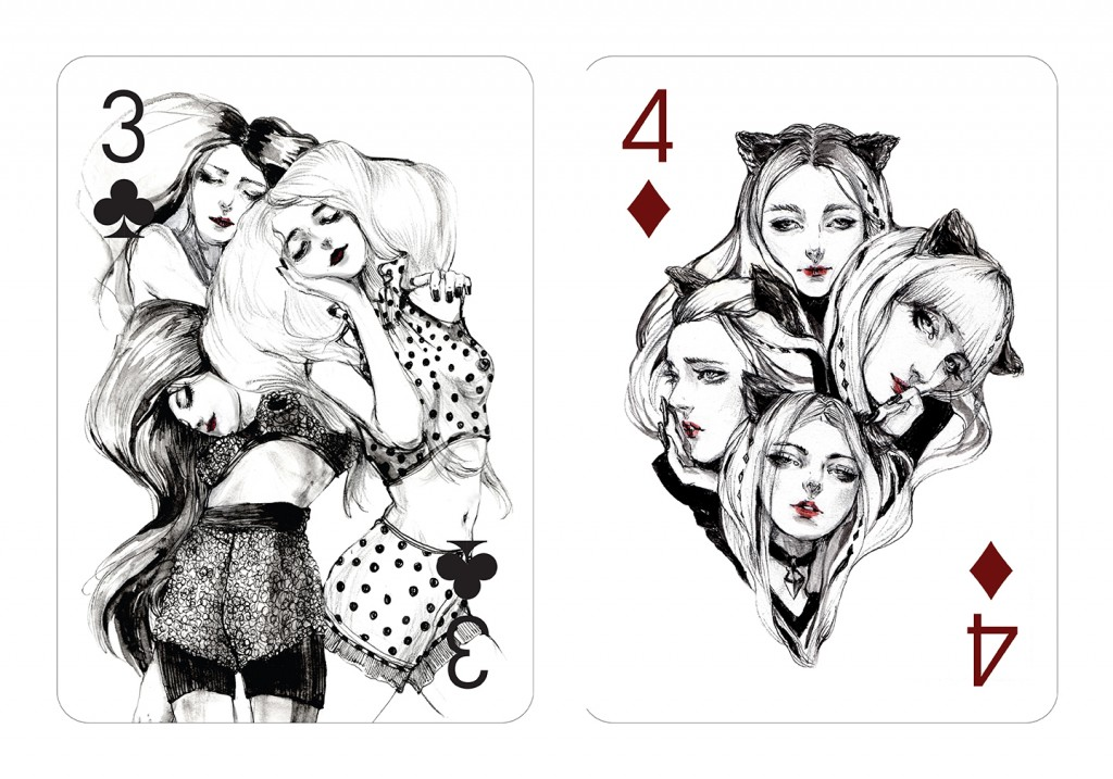 Three-and-four-playing-cards-designed-by-illustrator-Connie-Lim-Interview-by-Creative-Mapping-2015